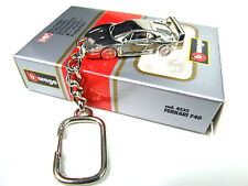 Burago Ferrari F40 Extremely rare Collectible chrome Plated Keyring 1:87