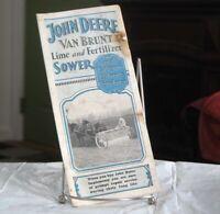 1931 Original John Deere Van Brunt Lime & Fertilizer Sower Brochure Dated 1931