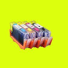 4 CARTOUCHE RECHARGEABLE COMPATIBLE POUR HP364, HP 364 B109 B209 SANS PUCE