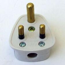 5a Pin Redondo enchufe de 230V Tipo Antiguo Reino Unido o extranjeros + utilizados en los bares tiendas (Plana Bolsas)