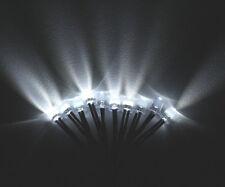 (2pcs) 8mm LED WHITE Lamp 55cm Pre Wired Round Emitting Diode Light Bulb 9-12V