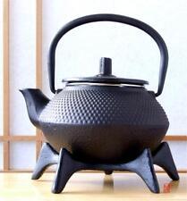 Star Trivet 125 & Cast Iron tea pot black hobnail 0.3L