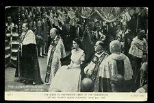 Royalty CORONATION 1953 Queen Elizabeth Preparing for Anointing PPC