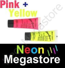 2 Stargazer UV Neon Face Body Paint Pink & Yellow
