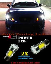 SEAT LEON MK2 COPPIA LAMPADE LUCI DIURNE A LED 6000K P21W BA15 NO ERROR