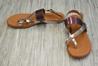 **Cole Haan Anica W12433 Metallic Leather Thong Sandals, Women's Size 9B, Pink
