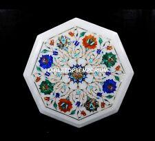 "12"" Elegant Marble Coutertops Table Pietradura Real Inlay Valentine Decor H5400"