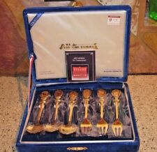 NEW 1988 Seoul XXIVth Olympic 6 Gold-Plated Souvenir Spoon Set In plastic