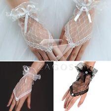 Sexy Femmes dentelle Gants Bowknot Fingerless Stertch de la Mariage 18cm