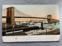 Brooklyn Bridge, New York Vintage Early 1900's Postcard