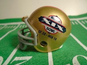 (1) San Francisco 49ers(Super Bowl XIX) Riddell Pocket Pro Football Helmet