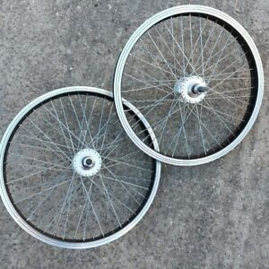 "20"" BMX Wheels - Front & Rear Wheelset - 14mm Axles Freestyle Skatepark School"