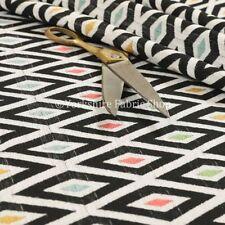 Tessuti e stoffe nero Geometrico ciniglia per hobby creativi
