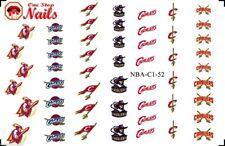 52pcs NBA CLEVELAND CAVALIERS BASKETBALL Nail Art Decals (tattoo) FAST SHIPPING!