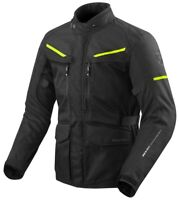 GIACCA JACKET MOTO REV'IT REVIT SAFARI 3 NERO GIALLO FLUO YELLOW WATERPROOF XXL