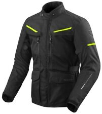 GIACCA JACKET MOTO REV'IT REVIT SAFARI 3 NERO GIALLO FLUO YELLOW WATERPROOF TG S