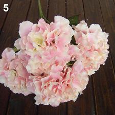 IK- 5 Heads Wedding Artificial Hydrangea Silk Flower Home Party Bouquet Decor Sw