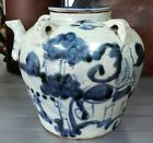 Early 19th Century Chinese Blue & White Soft Paste Porcelain Wine Pot (Wax Seal)