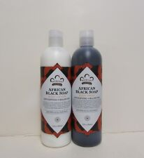 African Black Soap Lotion & Body Wash Set.. by Nubian 13oz each (2 Bottles)