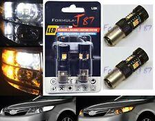 LED Switchback Light 3030 White Amber Orange 2357 Two Bulb Front Signal DRL Lamp