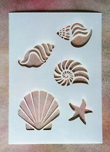 A5 Sea Shells Fish Mylar Stencil - Shabby Chic Rustic Vintage Wall Furniture