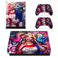 Xbox one X Console Vinyl Skin Harley Suicide Squad DC Decal Sticker Covers Wraps