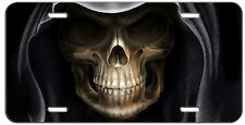 CUSTOM LICENSE PLATE HALLOWEEN SCARY REAPER SKULL AUTO TAG