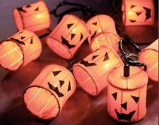 Halloween Jack Lantern PUmpking Outdoor Indoor String Lights New in Box