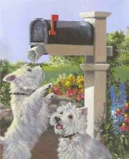 WESTIE WE GOT MAIL FLAG  FREE SHIP USA RESCUE