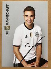 Mario Götze AK DFB 2016 Autogrammkarte original signiert