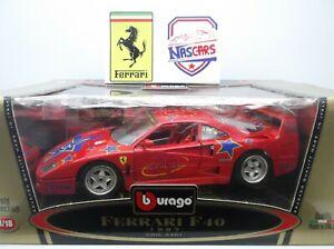 1:18 Ferrari F40 25th anniversary Bburago 1974-1999 Transfo Bburago