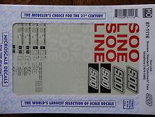 Microscale Decal HO #87-1116 Soo Line Freight (Decal Sheet)