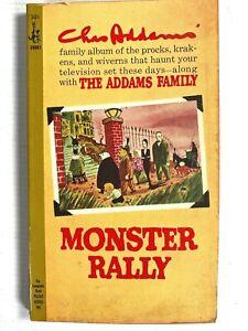 1950 THE ADDAMS FAMILY vintage cartoon book MONSTER RALLY Charles 'Chas' Addams