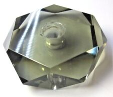 New listing Vintage Crystal Glass Lamp Prism Spacer Hexagon 6 Sided Gray Smoked Repair Part