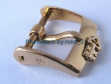 CORUM 18K, 18ct YELLOW GOLD 14mm TANG PIN BUCKLE CLASP UN POLISHED TRIPLE SIGNED