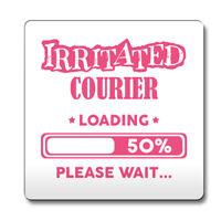 Black Irritated Teenager Loading Funny Gift Idea Coaster work 209