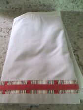 "Twin bed skirt Dust Ruffle Tan Beige Orange Stripe 15"" Jc Penny Home"