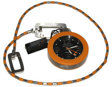 BARAKA OROLOGIO DA TASCA ARANCIONE ACCIAIO POCKET WATCH ORANGE STAINLESS STEEL
