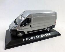 Peugeot Boxer Kastenwagen, silber-Metallic, NOREV, 1:43