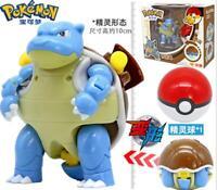 Pokemon Monster Blastoise Tortank Turtok Poke Ball Transformation Action Figures