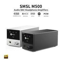 SMSL M500 MQA ES9038PRO XMOS XU216 USB Desktop Balanced DAC Headphone Amplifier