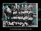 OLD LARGE HISTORIC PHOTO OF OF THE NEW SOUTH WALES RUGBY UNION TEAM, 1883