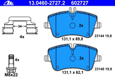 Bremsbelagsatz Scheibenbremse - ATE 13.0460-2727.2