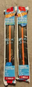 NEW 2 Packs Of Hot Wheels Black Straight Track Builder Unlimited (6 FT+ Total)