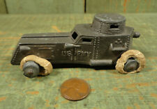 Antique Vtg Tootsietoy US Army Armored Car Tank Vehicle Diecast Toy