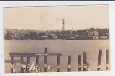 EAST JORDON MICHIGAN RPPC VIEW FROM OLD PIER USED 1927