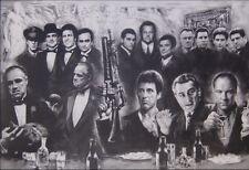 """Godfather Goodfellas Scarface Sopranos Canvas 24x20"""""""
