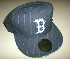 Boston Red Sox MLB Denim Pin Stripe Baseball Hat NEW ERA 7 5/8 Fitted 59 Fifty