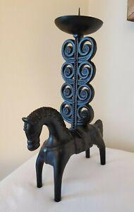 Vintage Weinberg Style Etruscan Horse Candle Holder SIGNED