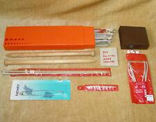 Huge VINTAGE ASSORTMENT Knitting Needles JAEGER AERO etc & GRADUATED STORAGE BOX